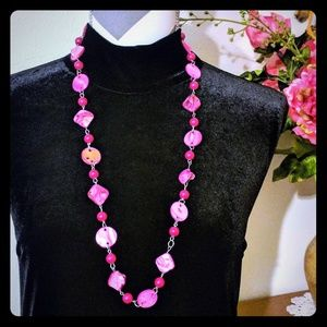 River shells Pink Necklace